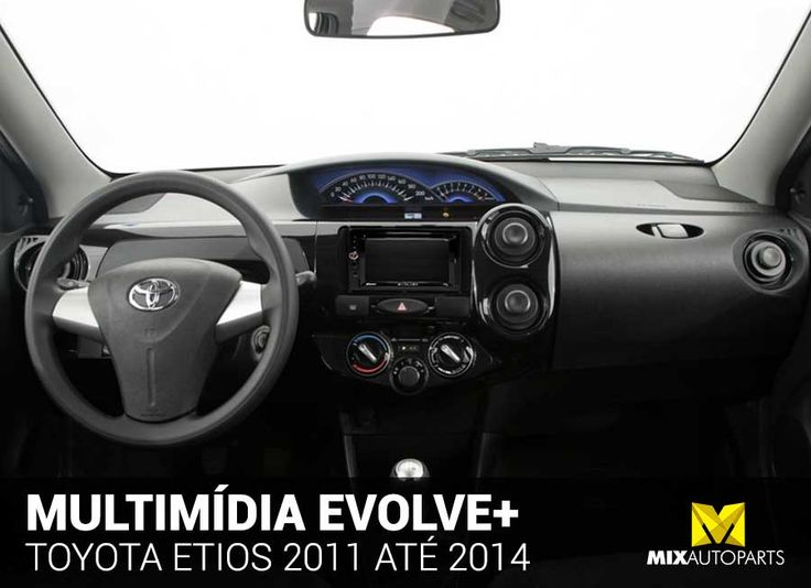 Central Mulltimidia Evolve+ Toyota Etios 2011 2012 2013 2014