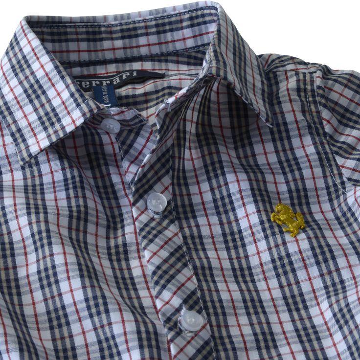 Infant Ferrari Shirt #Ferrari #FerrariStore #Kids #Collection #Infant #Shirt #Cotton #Maranello #Young #Fans #Burberry #Style #CavallinoRampante #PrancingHorse #Logo #Comfort #Elegance