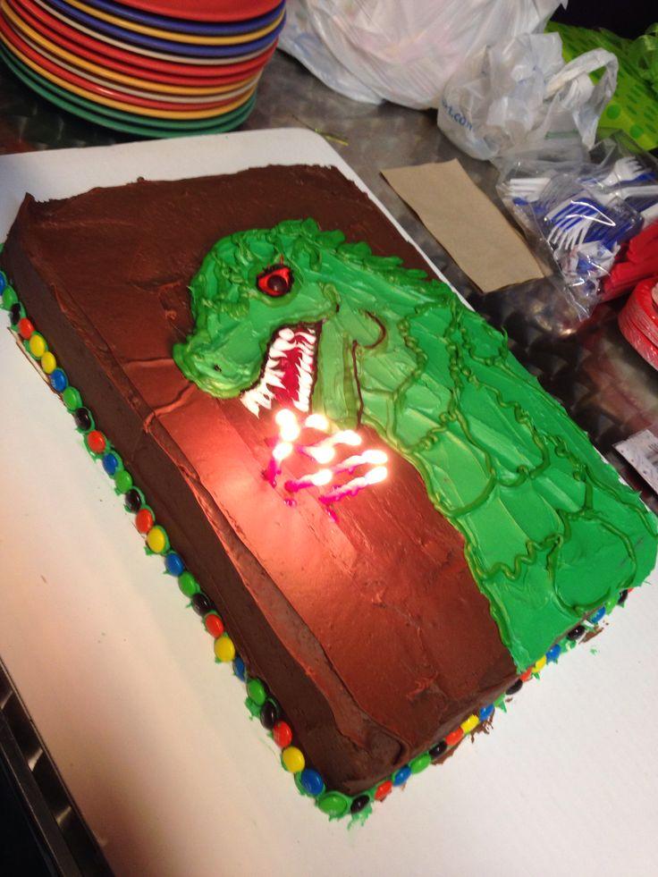 Godzilla birthday cake!