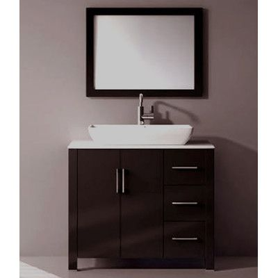 36 Single Free Standing Bathroom Vanity Set With Mirror