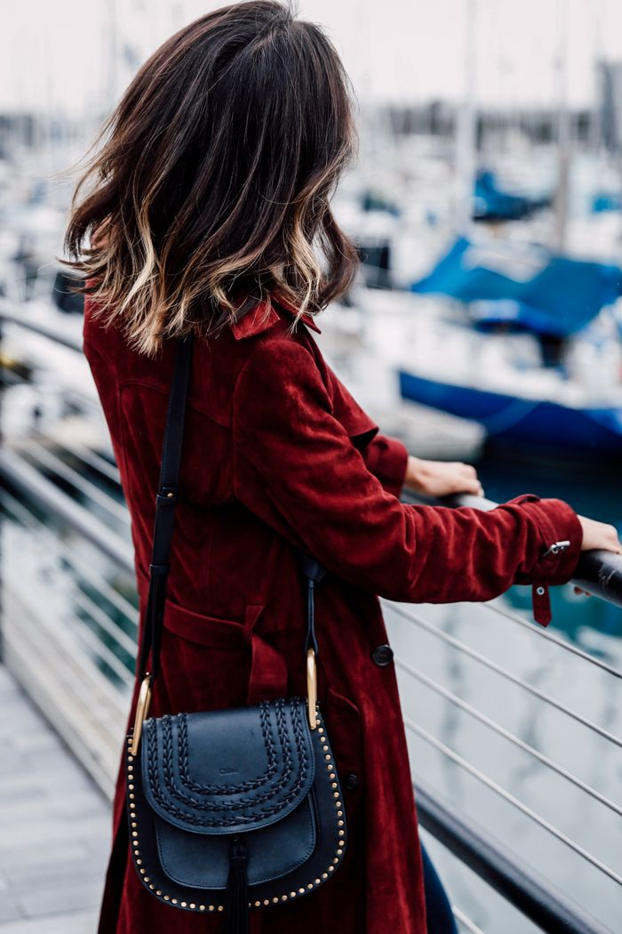 VivaLuxury - Fashion Blog by Annabelle Fleur: BURGUNDY SUEDE