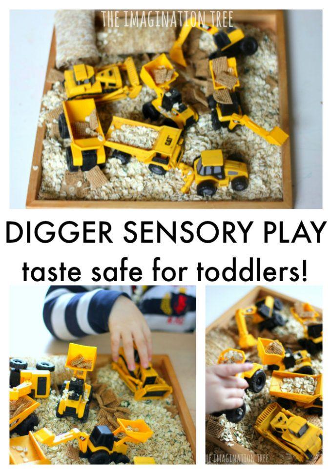 Taste Safe Digger Sensory Bin for Toddlers