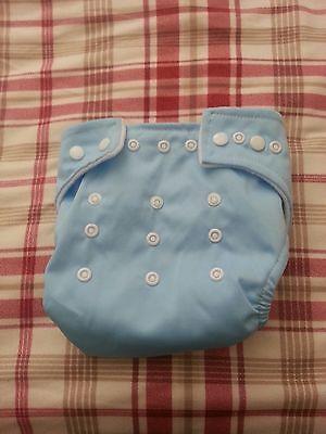 babys washable cloth diaper blue