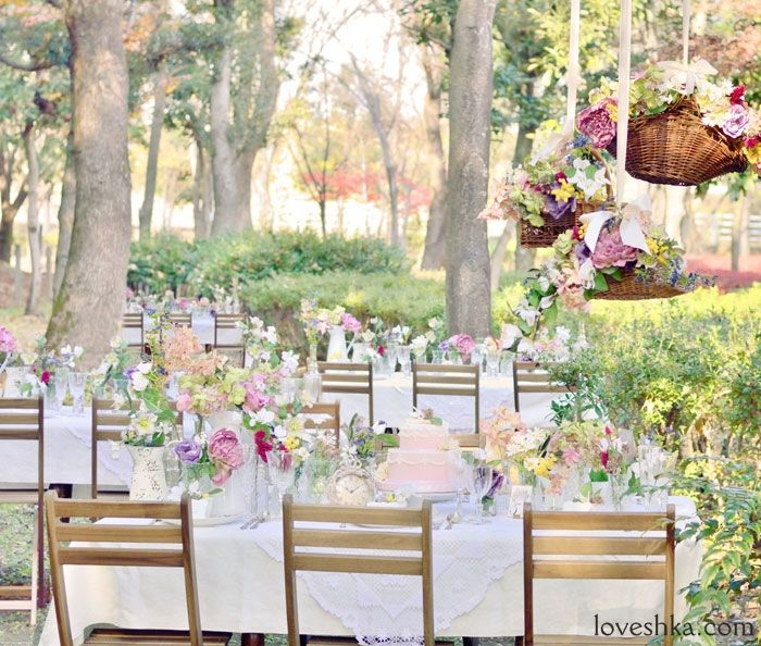 real wedding / 実際のプロデュース / バスケット / ガーデン / garden / flower / 装花 / ウェディング / 結婚式 / wedding / オリジナルウェディング / プティラブーシュカ / トキメクウェディング