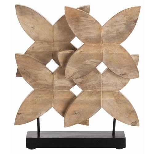 Arteriors Ella Carved Wood Sculpture