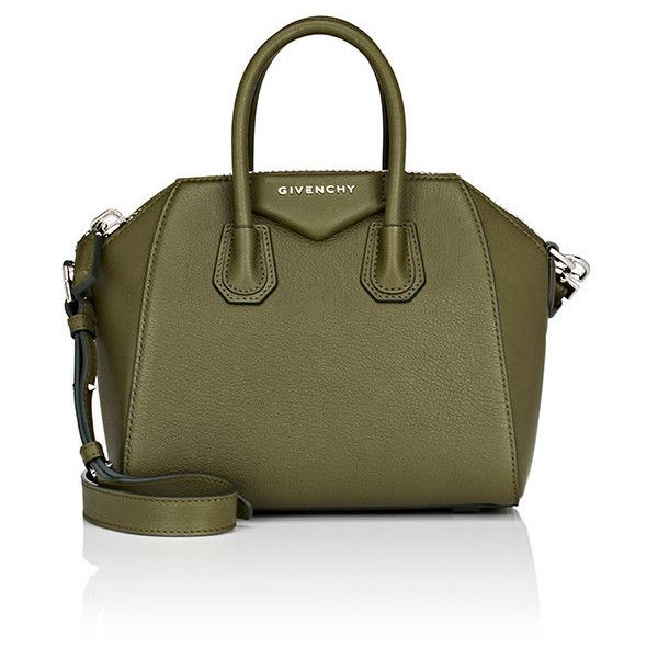 Givenchy Women's Antigona Mini Duffel Bag ($1,750) ❤ liked on Polyvore featuring bags, luggage and dark green