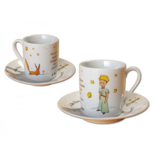 Set of 2 coffee cups Espresso Le Petit Prince from Le Petit Prince La Boutique Officielle.