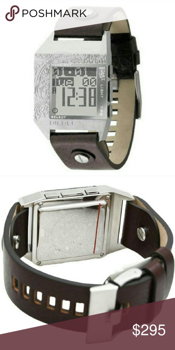 RARE Diesel Watch DZ-7046 Brown Leather Diesel Watch, this watch is not made anymore! Gently worn (the face has some wear) but the leather band and battery have been replaced (aka brand new)!Comes in Original Diesel Box!  OPEN TO OFFERS Diesel Accessories Watches