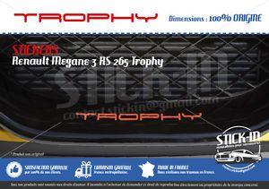 Renault Megane 3 RS Trophy 265 Stickers Autocollants Parechoc Front Bumper Lame | eBay