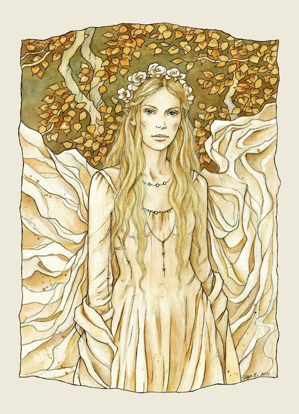 Lady of the Golden Wood by liga-marta.deviantart.com on @deviantART