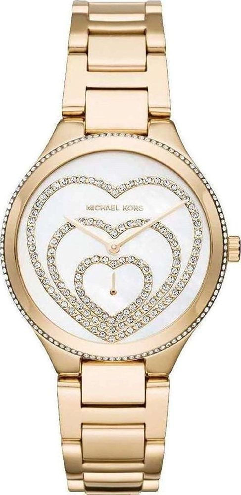 Michael Kors Watch MK3604 Gold Lainey Heart Dial Stainless New #MichaelKors #Casual