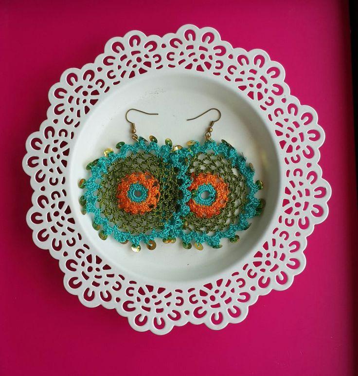 Handmade tığişi halka küpeler - Küpe 348259 | zet.com
