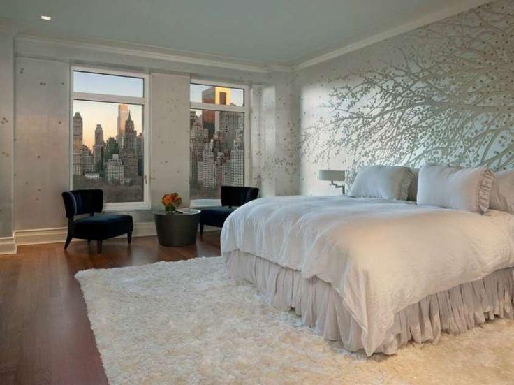 Idee per le pareti della camera da letto - Camera con con albero