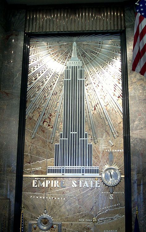 The art deco buildings of new york city the empire state for Empire state building art deco interior