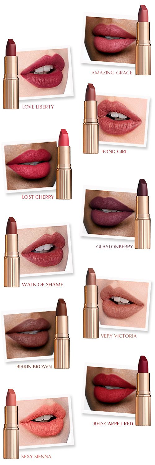 OMG--All these are gorgeous shades! New! Matte Revolution Lipstick in 10 Shades | Charlotte Tilbury | Charlotte Tilbury