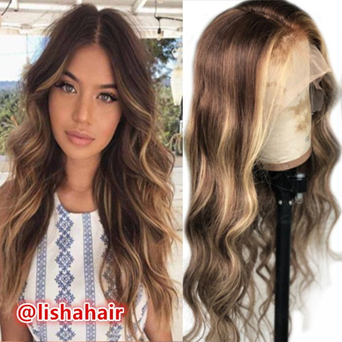 New arrival hot sale highlights brown and honey blonde body