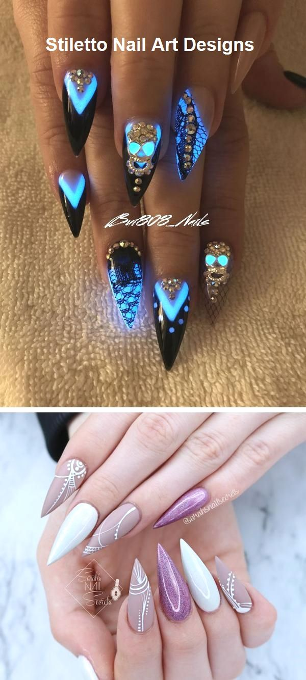 30 Great Stiletto Nail Art Design Ideas 9 With Images Funky