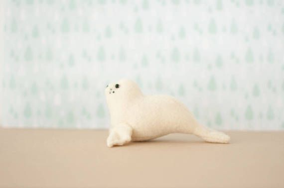 Sam the Baby Seal Sewing Pattern, Instant Download PDF tutorial, DIY stuffed animal, felt softie Sea Creature, arctic baby decor, gift
