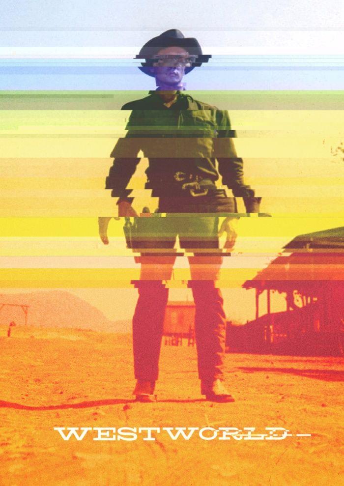 Westworld (1973) poster made by glitching a jpeg [OC]