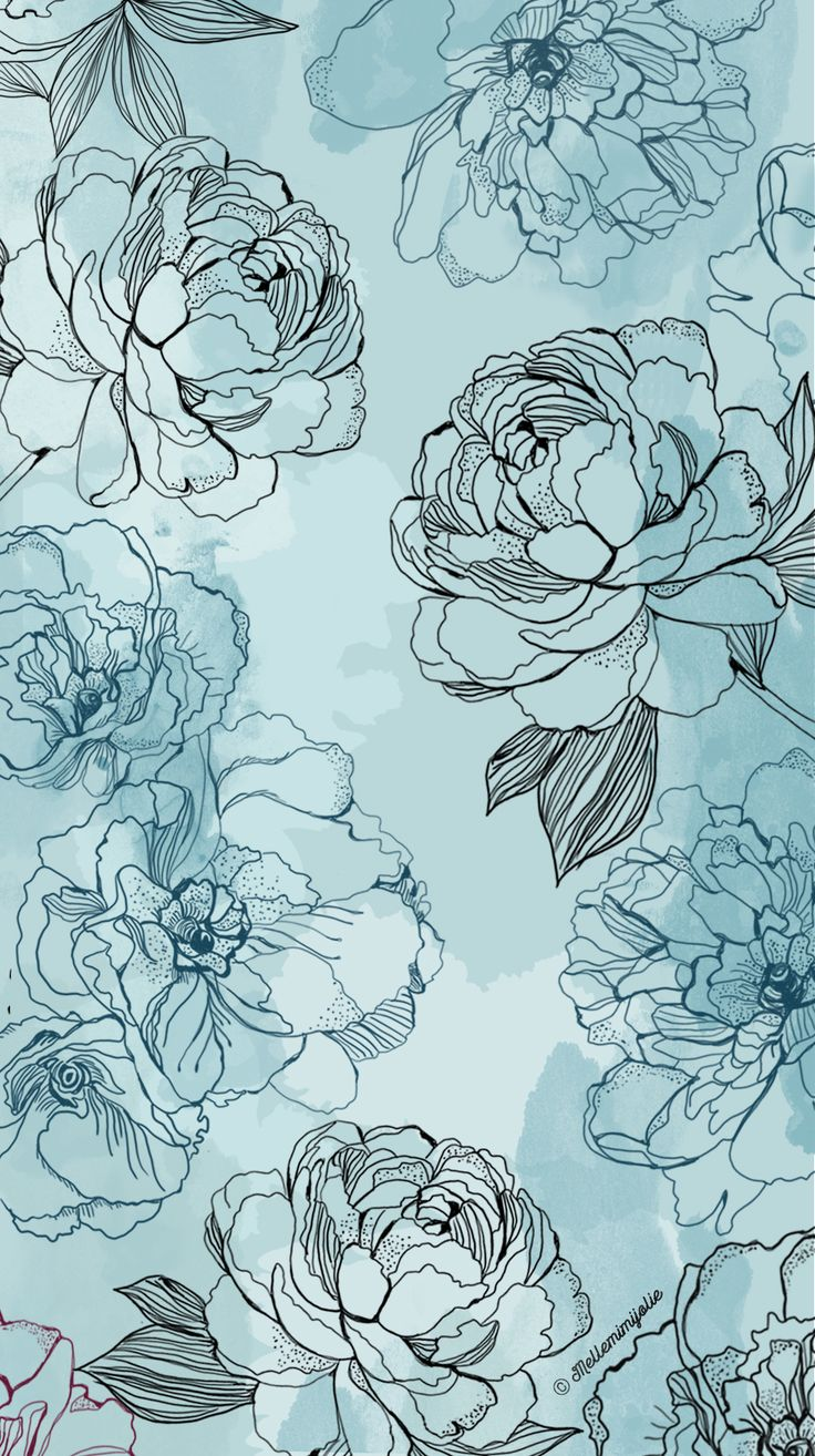 Blue Flowers Pattern for background