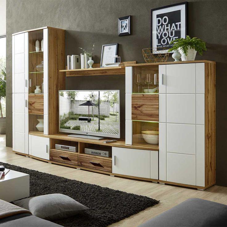 Die Besten 25+ Wohnwand Weiß Eiche Ideen Auf Pinterest | Eiche