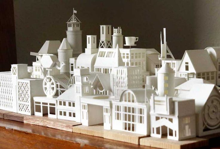 Paper City – Artist builds a miniature and animated city entirely made of paper