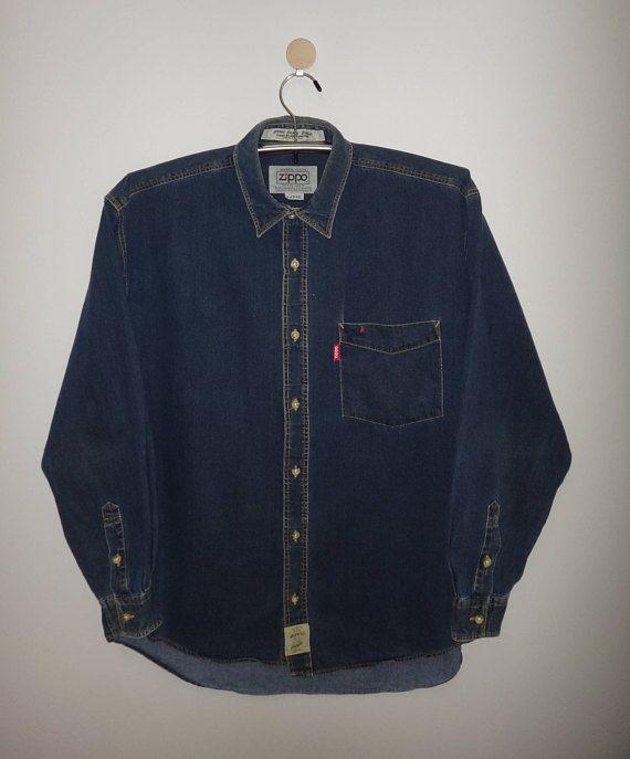 Vintage Zippo Casual Clothes American Classic Denim Long