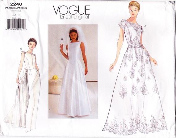Best Vogue Bridal Original Wedding Dress Pattern by SewSadieBess