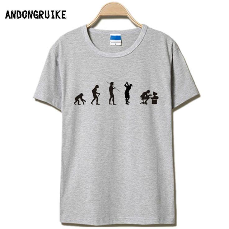 Evolution of the T-shirt Men Casual Short Sleeve T-Shirt O Neck Cotton Mens t shirt Man Tops Tees Free Shipping S-4XL