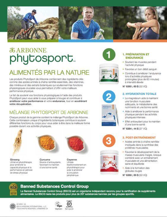 Les produits Arbonne PhytoSport™ peuvent vous aider à atteindre une performance maximale dans le cadre des sports et de l'entraînement. Que vous soyez athlète de compétition ou fassiez partie d'une équipe de sport récréatif, vous sortirez toujours vainqueur en consommant les bons nutriments.  À découvrir! Obtenez 20% de rabais en devenant client privilège!