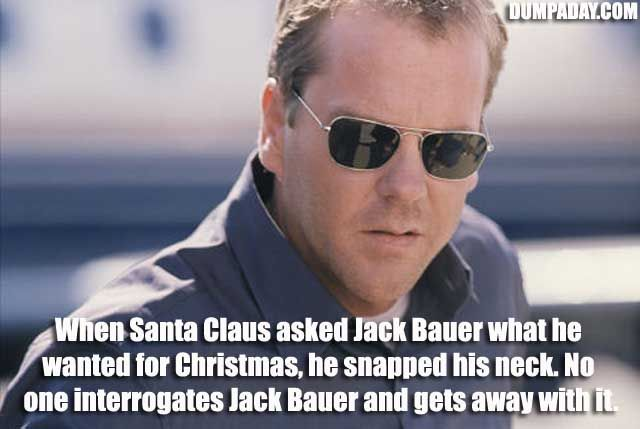 Jack Bauer. I think we can agree he's more of a badass than Chuck Norris.
