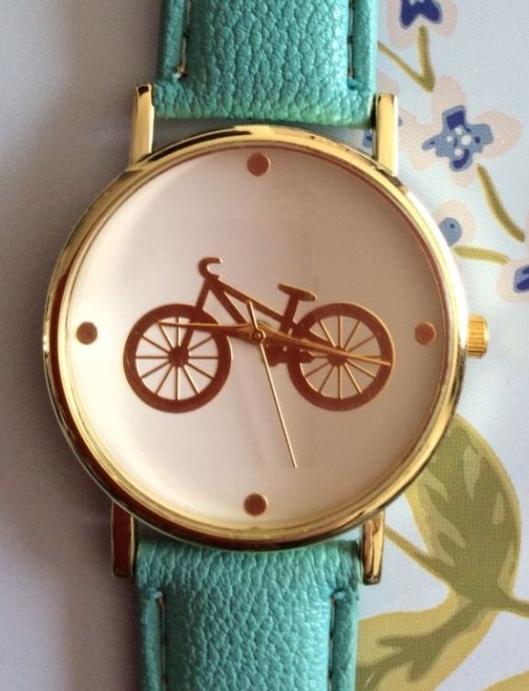 Mint Green Faux Leather Strap Bicycle Watch #jewellery #accessories #men #ladies #time #mintgreen #mint #green #fauxleather #leather #watch #watches #wrist #wristwatch #sport #sports #cycling #cyclist #cycle #gift #present http://m.ebay.co.uk/itm/Mint-Green-Faux-Leather-Strap-Cycle-Women-Wrist-Watch-Ladies-Xmas-Bicycle-Cute-/282418610745?nav=SELLING_ACTIVE