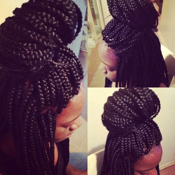 ... Box Braids, Braids Twists, Thick Braids, Individual Braids Hairstyles