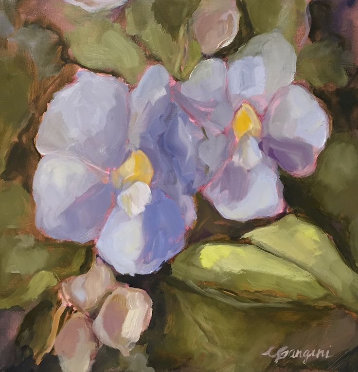 CGangini Art 'Thunbergia'  oil painting, Maui art, upcountry Maui