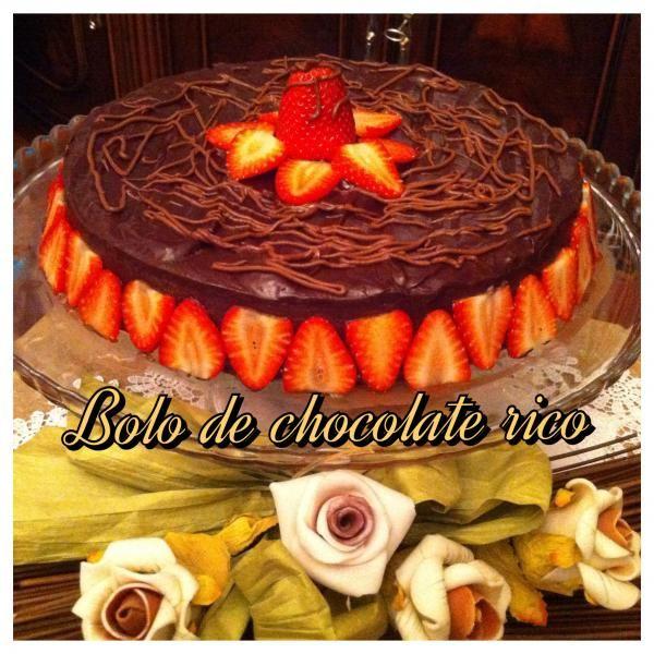 Bolo de Chocolate Rico   SaborIntenso.com