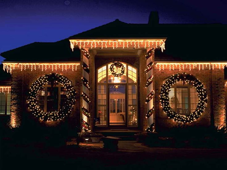 christmas lights on house christmas decorating pinterest