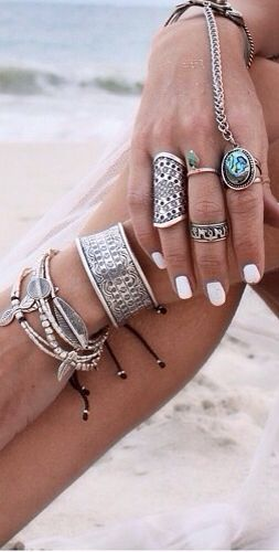 How to stack and layer your necklaces and rings.