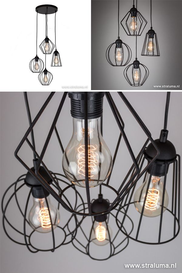 Draadhanglamp Zwart Hoogte Verschillend Www Straluma Nl Keuken Lichten Verlichting Hanglamp