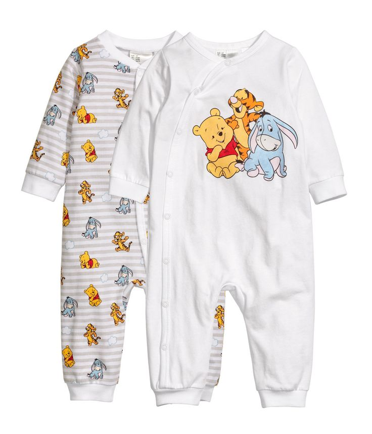 Check this out! Jumpsuits in soft cotton jersey with a printed pattern. Snap fasteners at front and along one leg. - Visit hm.com to see more.