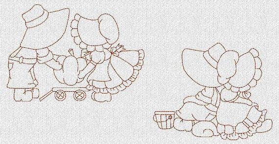 Disegni di ricamo Redwork macchina per bambini di embroiderygirl