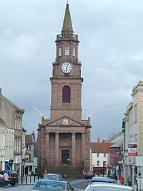 Berwick upon Tweed - Town hall - I used to get to ring the curfew bell here in the 60's and the carillon bells at Christmas. So COOL!!