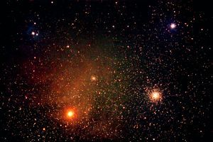 On summer evenings, you can spot red Antares, the ruby Heart of Scorpius the Scorpion. It is the 16th brightest star and one of the most gigantic stars known.   EarthSky.org