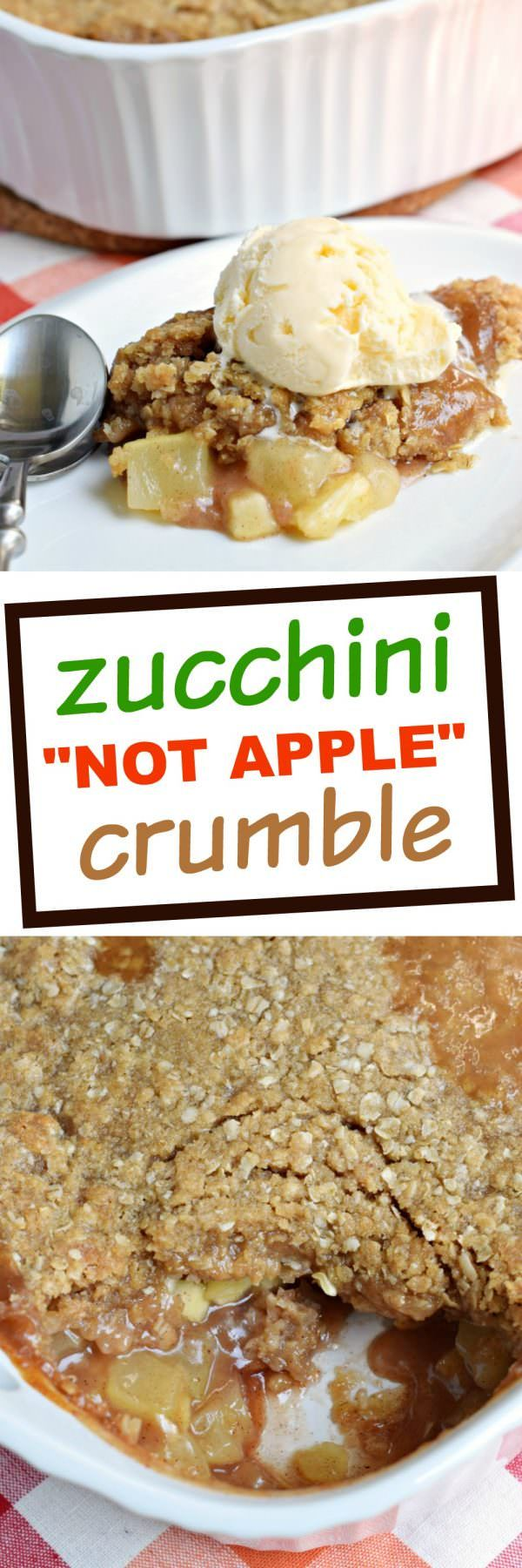 Don't tell anyone, but this hot Zucchini Crumble recipe is like apple pie, but with veggies! Sweet, caramel zucchini with a crunchy cinnamon crumble…