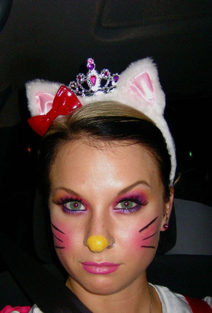 Unique+Costume+Makeup | Hello Kitty Halloween Costume