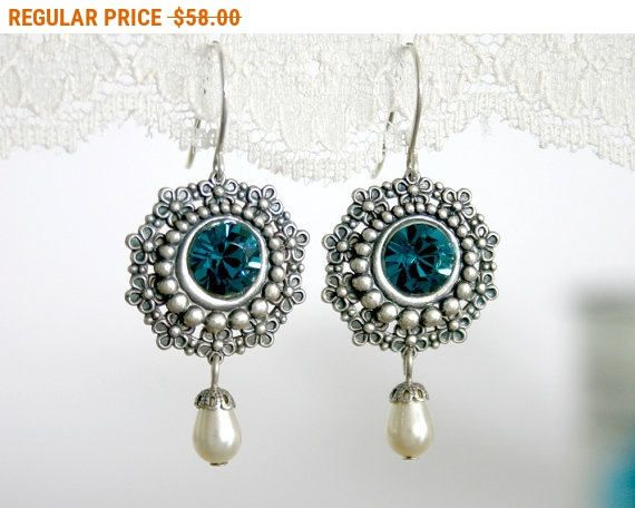 20% OFF - CIJ SALE Mother of the bride earrings Mother of the bride jewelry Mother earrings Blue and silver earrings Blue dangle by AlinYerushalmi from AlinYerushalmi. Find it now at http://ift.tt/2to27oH!