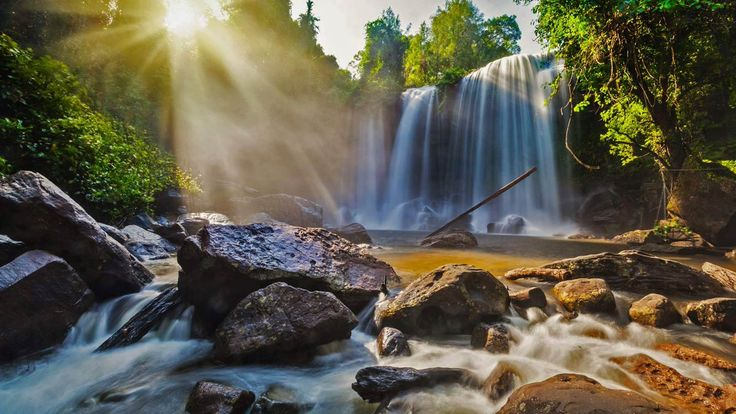 Waterfalls in Phnom Kulen National Park, Cambodia by f9photos