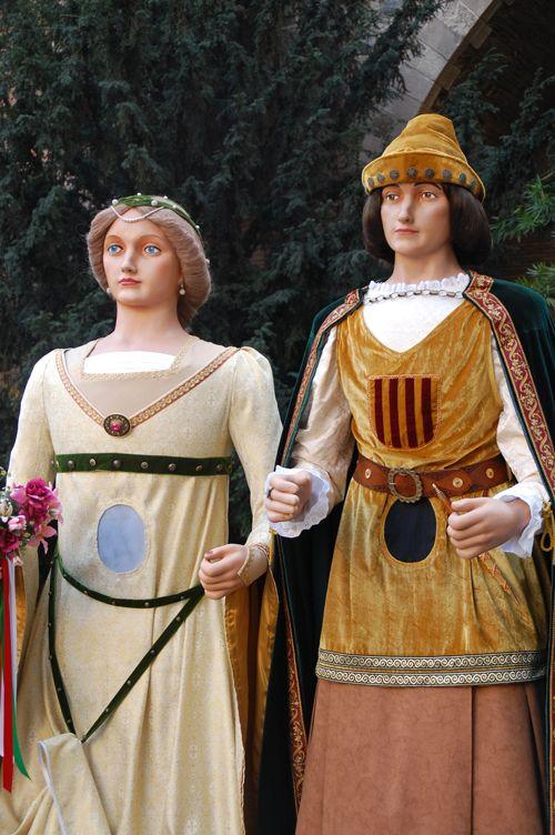 Gegants de Lleida. Berenguer i Violant.