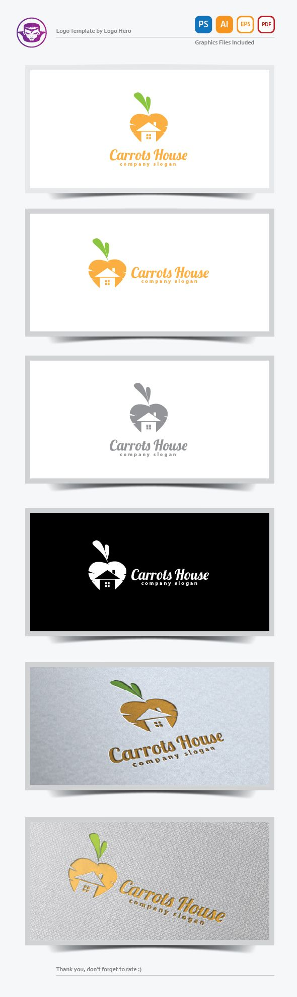 Carrots House Logo Template on Behance