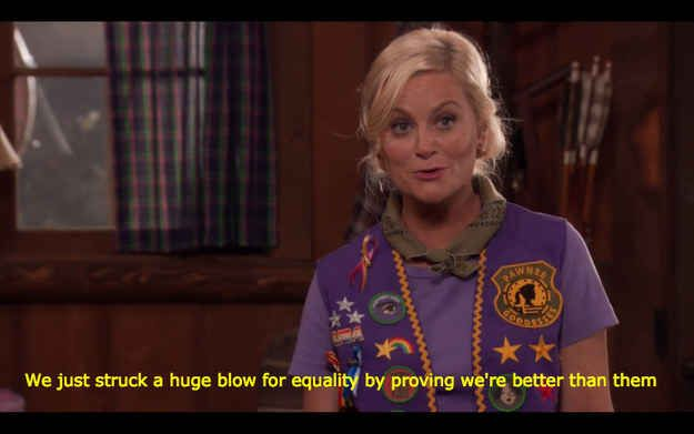 When she took her role as leader of the Pawnee Goddesses very seriously.