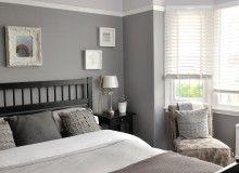 Traditional elegant grey bedroom